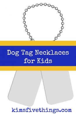 dog tag necklaces for kids