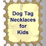 dogs tag necklaces for kids