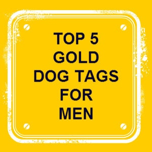 gold dog tags for men