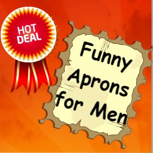 funny aprons for men that cook and grill