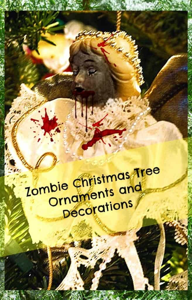 zombie christmas tree ornaments and decorations