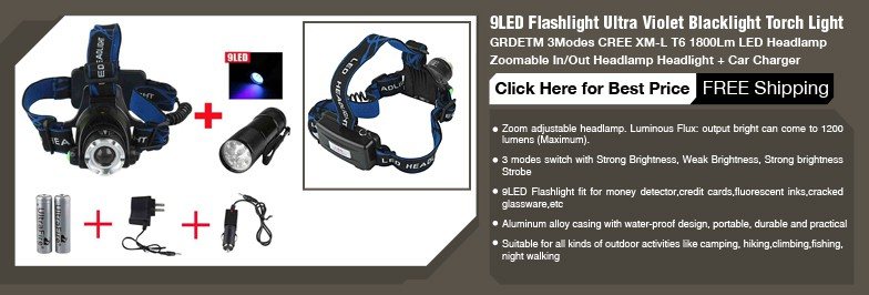 LED flashlights for hiking