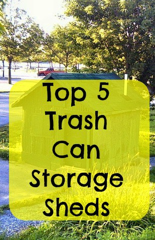 best trash can storage sheds