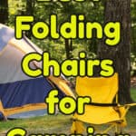 Folding Camping Chairs with Footrests