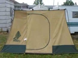 brown canvas vintage style tent