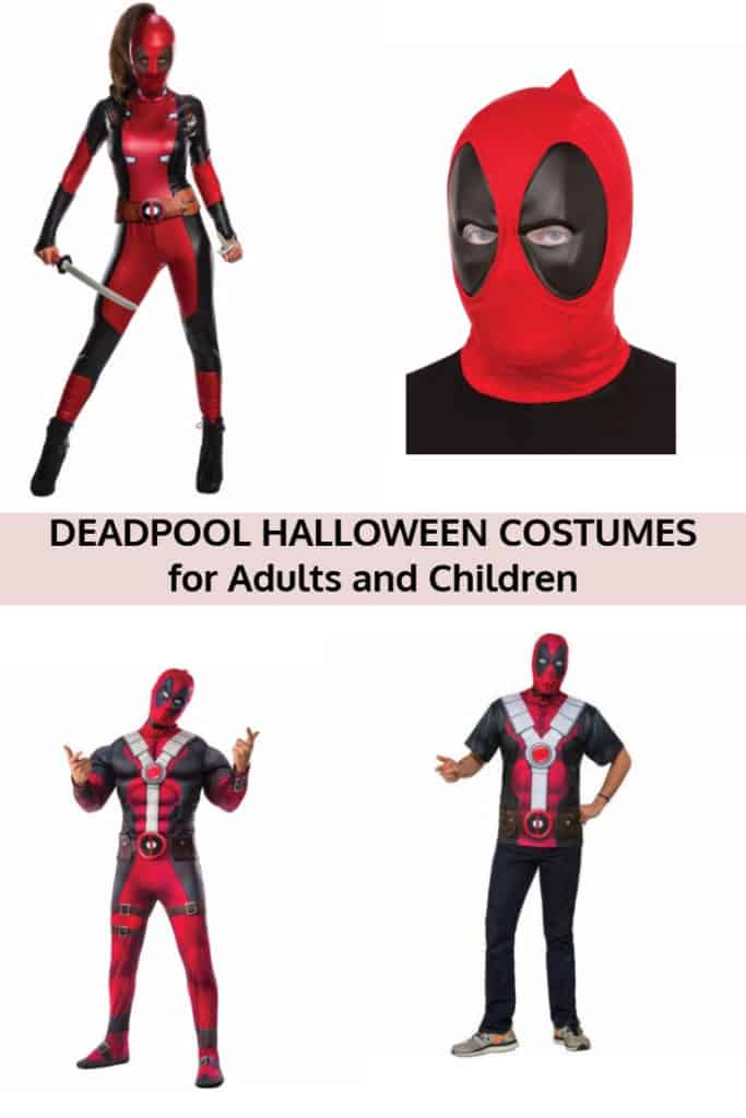 Deadpool Halloween Costumes for Adults and Children