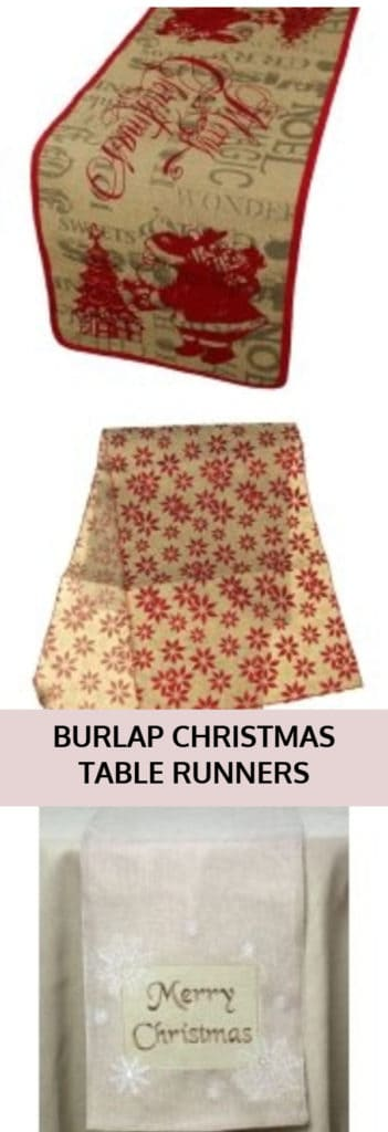 Burlap Christmas Table Runners