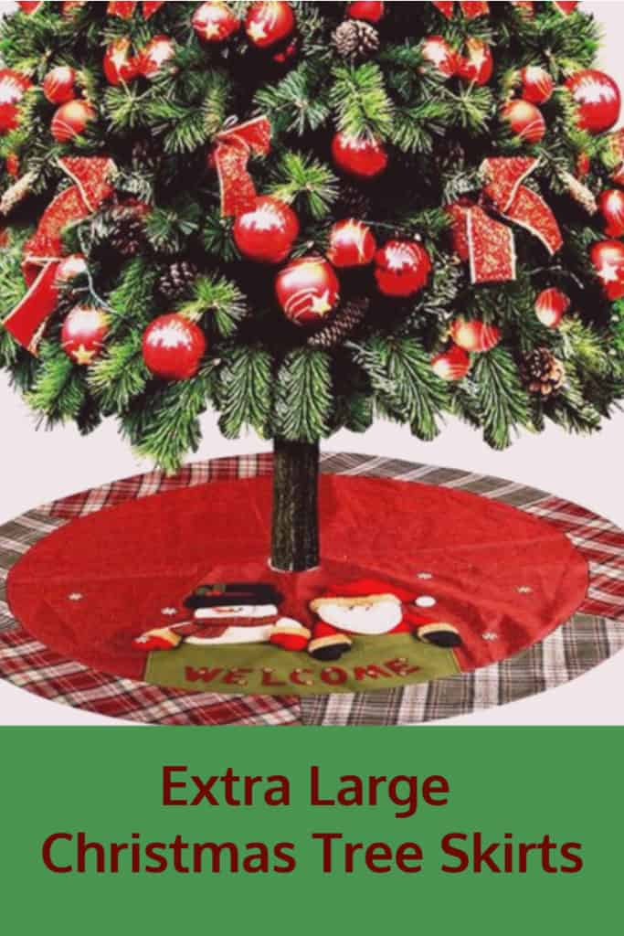 extra large burlap christmas tree skirt