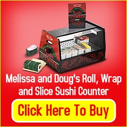Melissa and Dougs Rool Wrap0 and Slice Sushi Counter Review