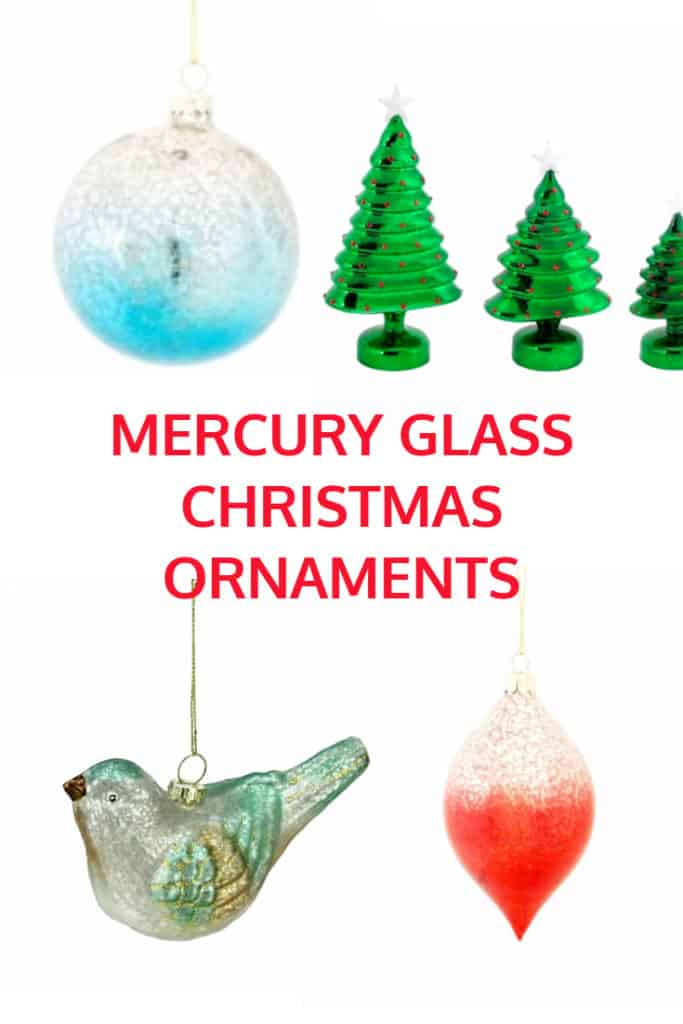 mercury glass christmas ornaments and decorations - Mercury Glass Christmas Decorations