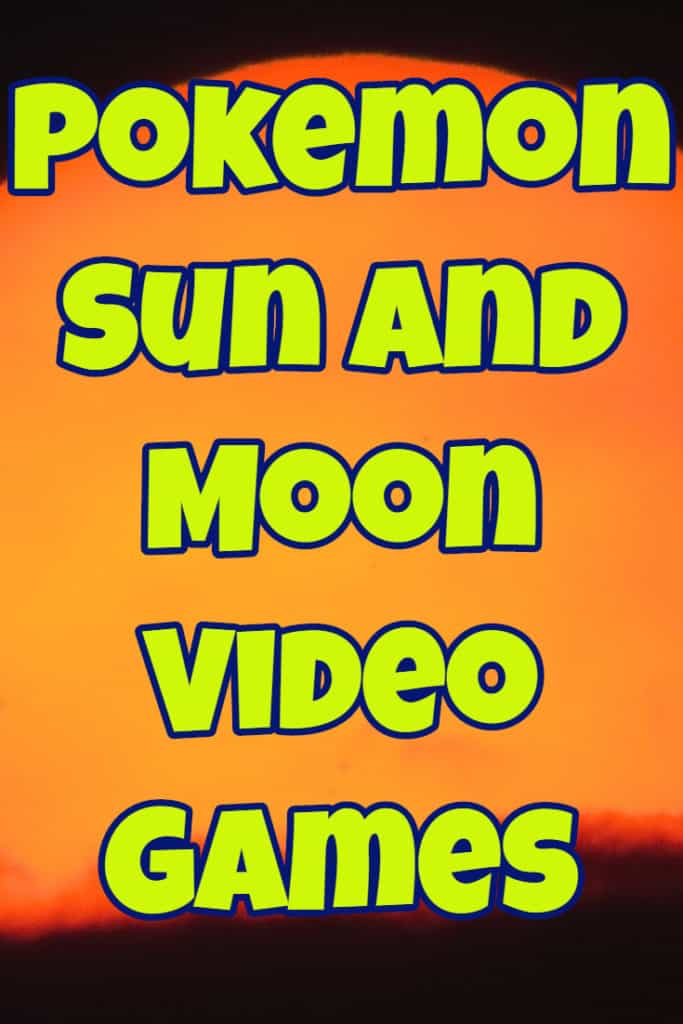 Nintendo 3DS Pokemon Sun and Moon Video Games 2017