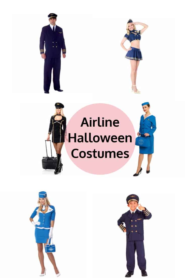 Airline Pilot and Stewardess Halloween Costumes