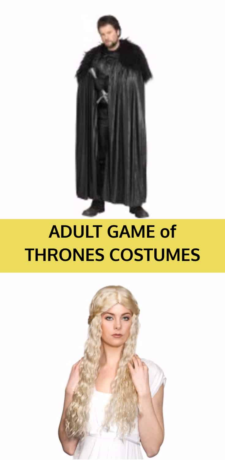 Adult game of thrones halloween costume ideas great gift for Game of thrones gifts for men