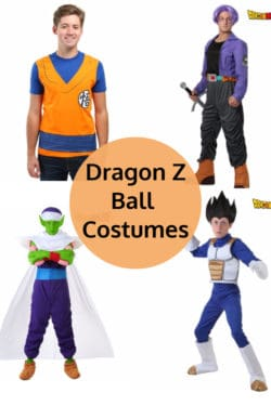 Dragpn Z Ball Halloween Costumes for Adults and Children