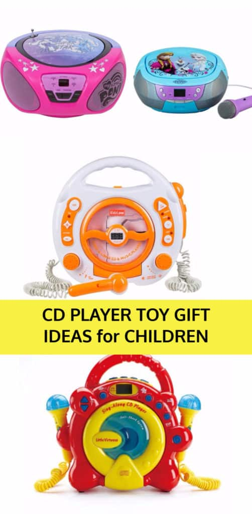 CD players for Toddlers and Children Gift Ideas for a Child that loves music.