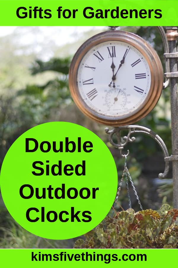 double sided outdoor clocks that make great gifts for gardeners