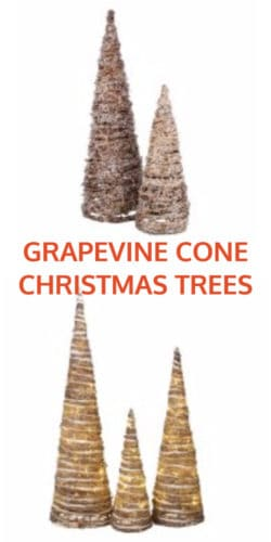 Grapevine Cone Christmas Trees