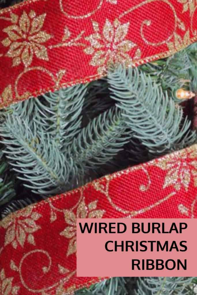 Wired Burlap Christmas Ribbon