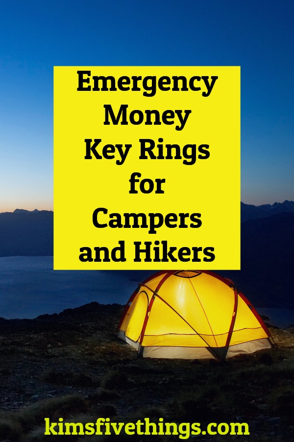 emergency money keyrings for campers and hikers