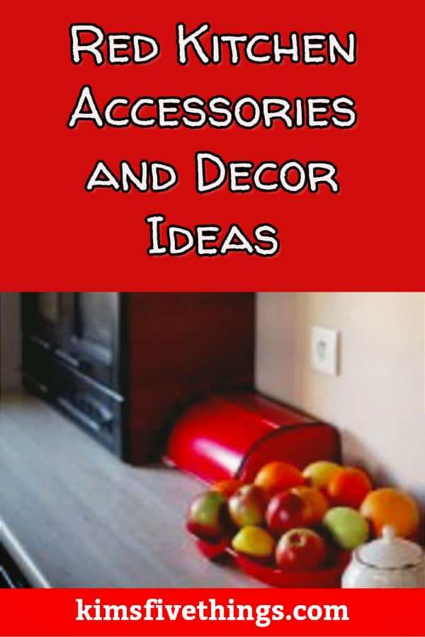 red kitchen decor and accessory ideas