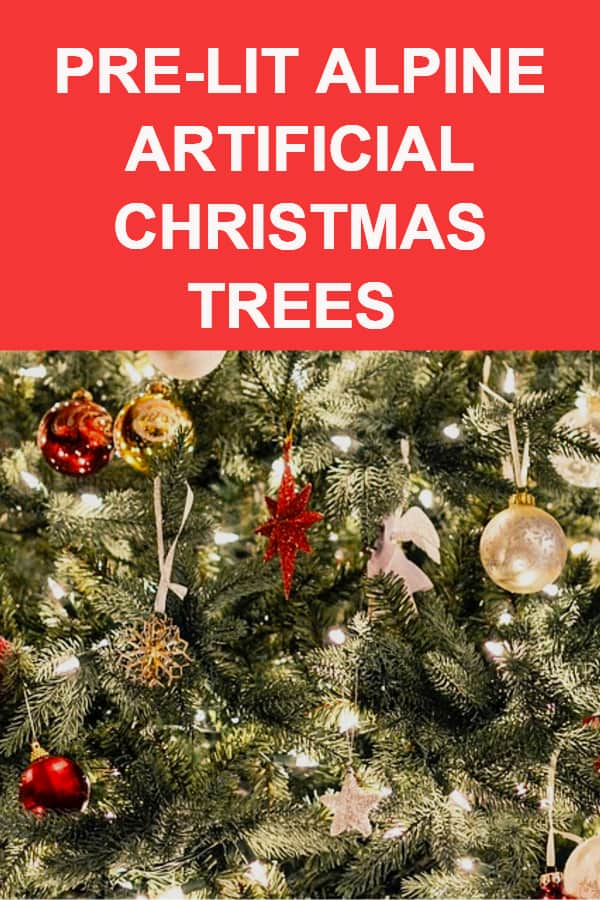 Alpine Artifical Christmas Trees Pre lit flocked