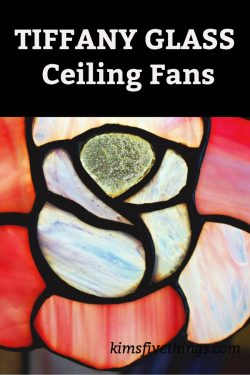 Ceiling Fans with Stained Glass Lights Tiffany Glass Style Ceiling Fans