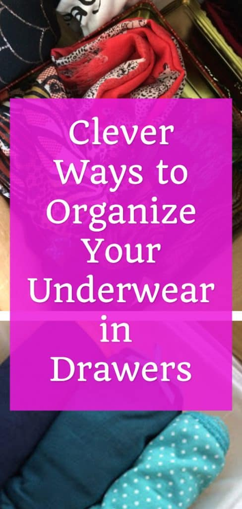 how to organize drawers for clothes