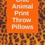 animal print throw pillows for your home interior decor