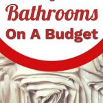 shabby chic bathroom accessories on a budget