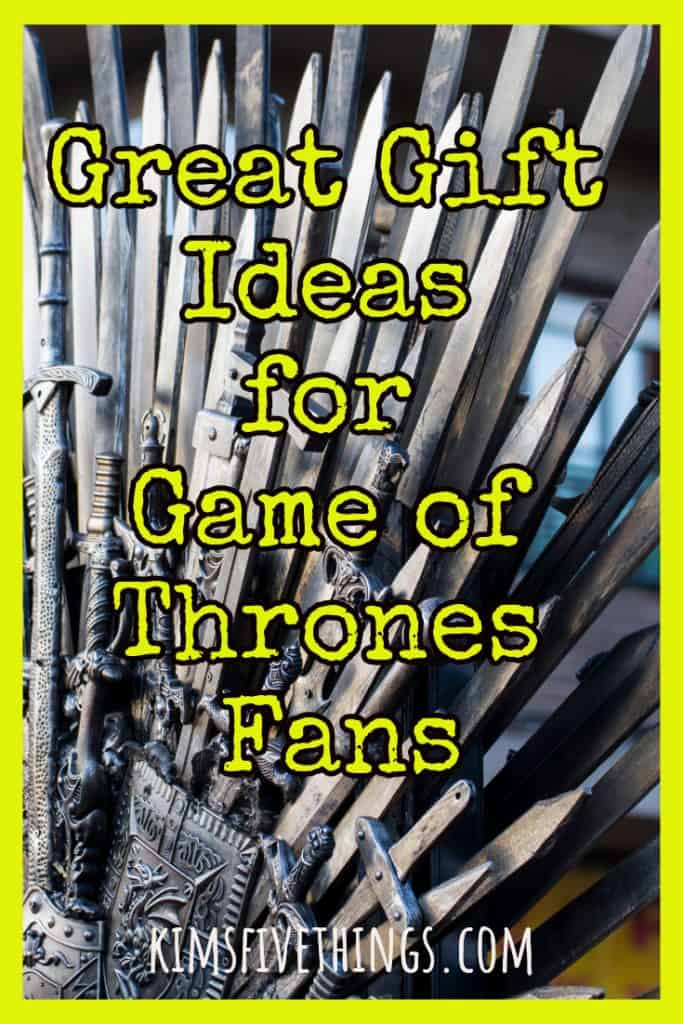 great gift ideas for game of thrones fans