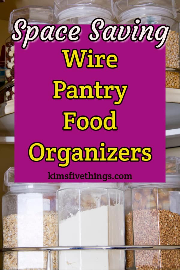 Sliding wire baskets for pantry organization that will hold all your dry goods. These includedecorative wire baskets for shelves and wire storage basket wall-mounted systems for fruits and vegetables. Ideal for awkward pantry spaces like high and deep shelving. Ideal as food pantry organization containers that will make the most of limited space.