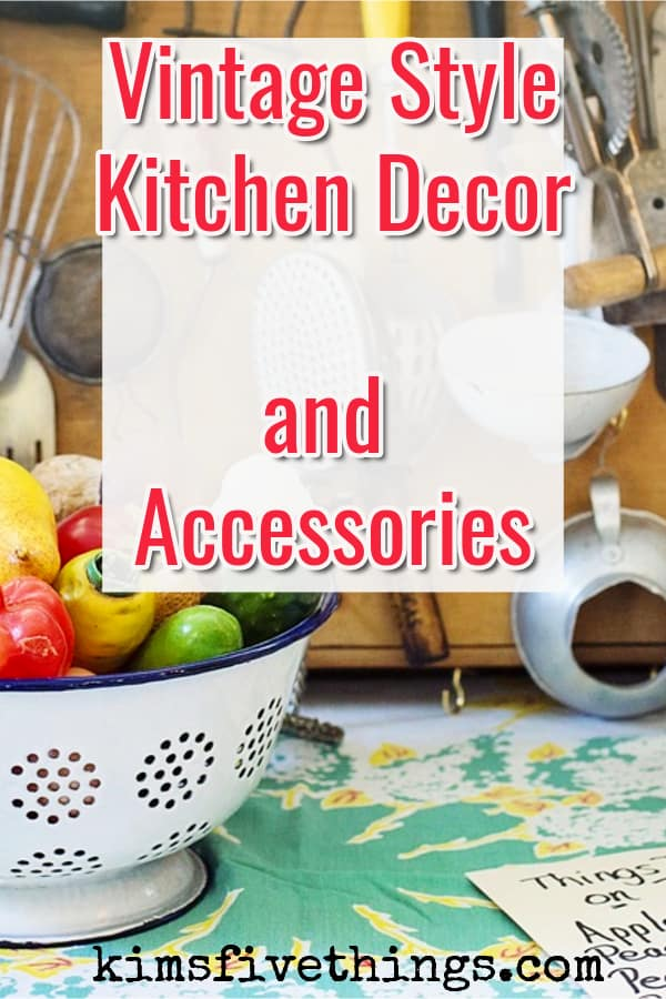 vintage style kitchen accessories 1950s and 1960s