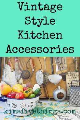 ways to style your kitchen with vintage pieces