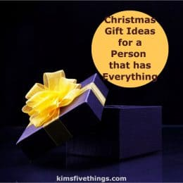 top 5 christmas gifts for a person that has everything