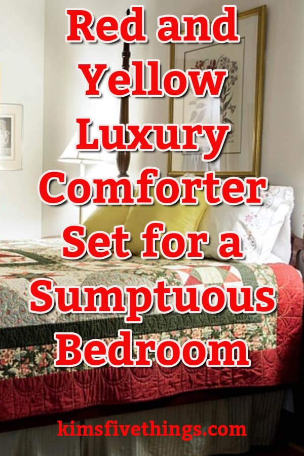 Red and Yellow Luxury Comforter Set for a Sumptuous Bedroom