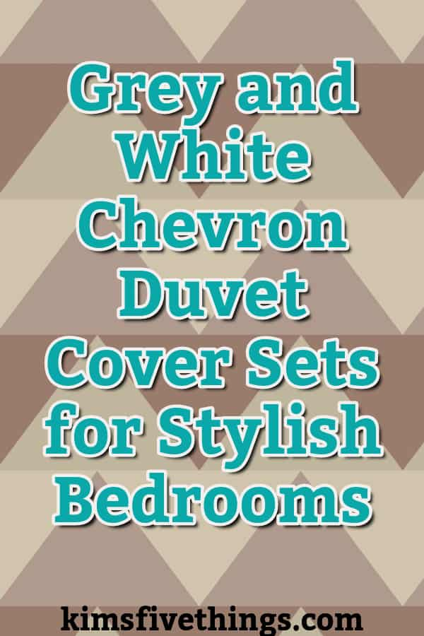grey and white chevron duvet cover sets