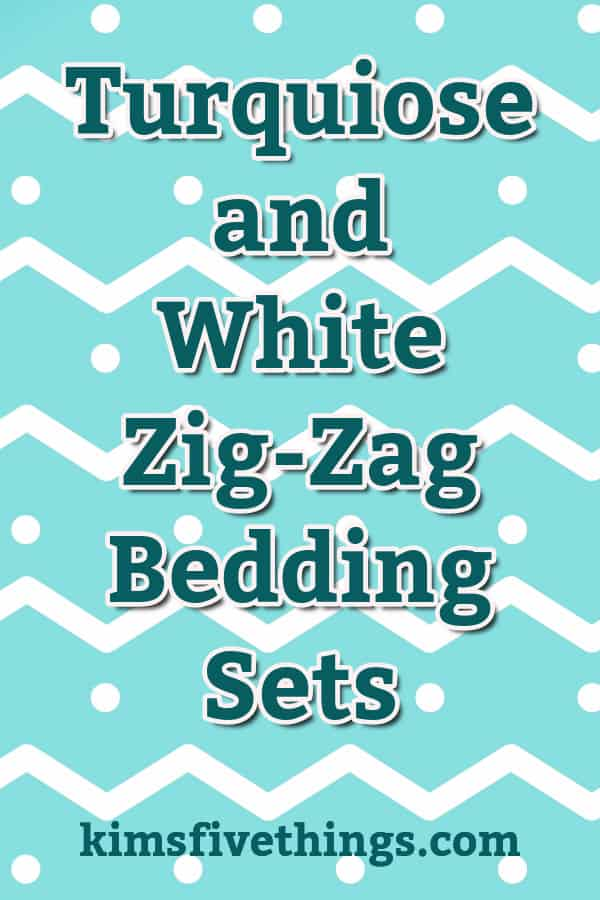 turquiose and white zig zag bedding sets