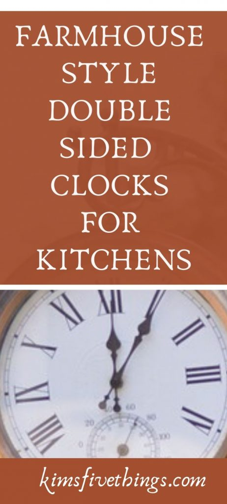 Farmhouse Double Sided Clocks for Kitchens