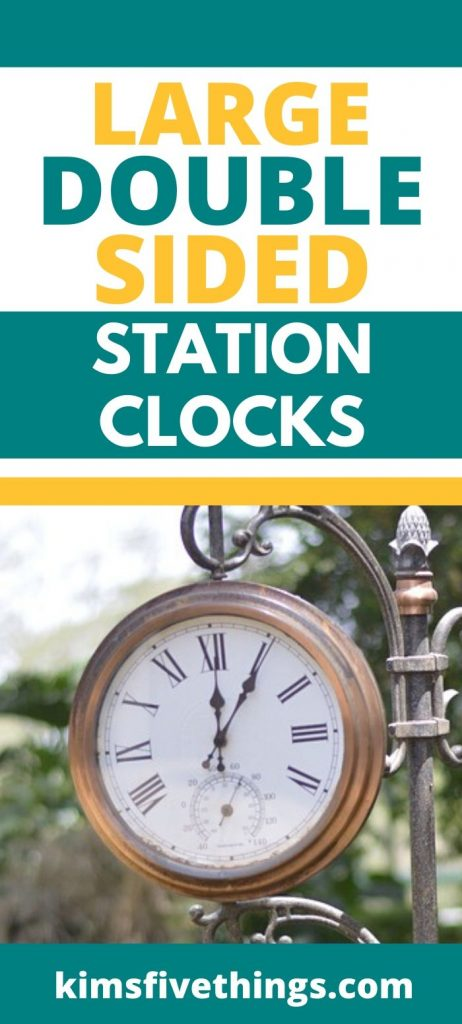 large double sided station clocks for gardens