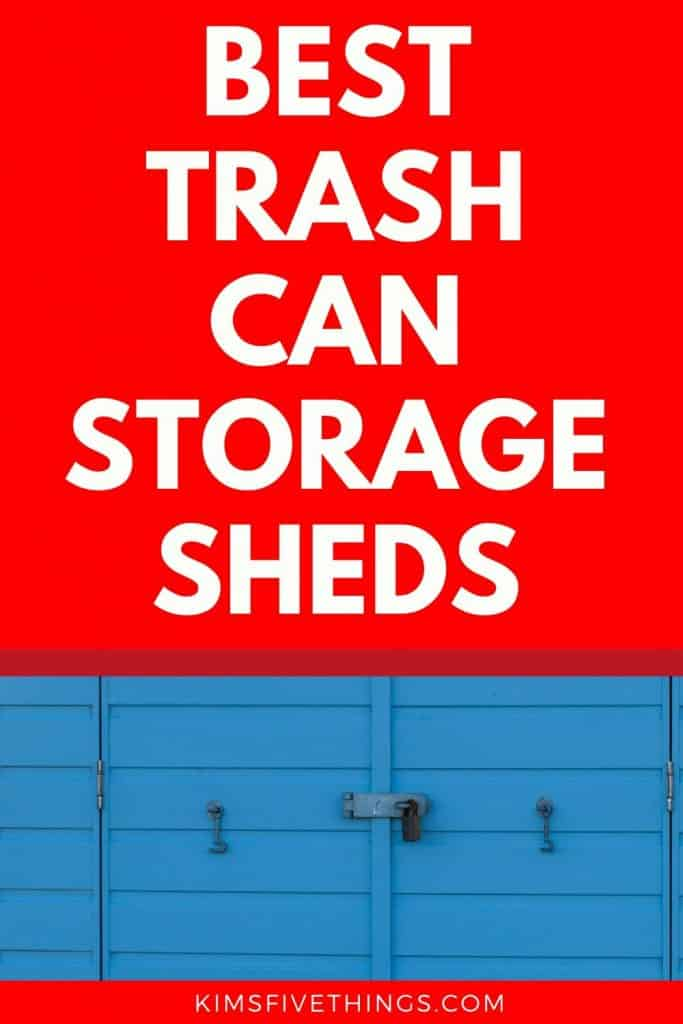 Trash Can Storage Sheds