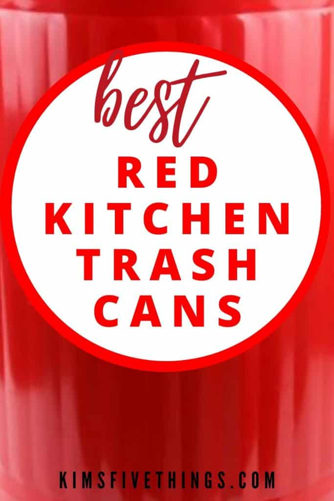 best red kitchen trash cans