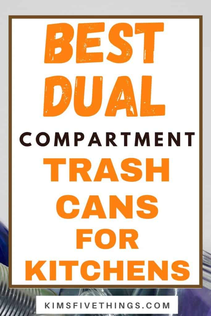 dual compartment trash cans for kitchens