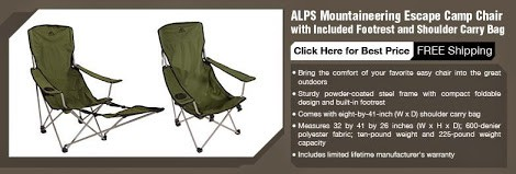 folding camping chair with footrest