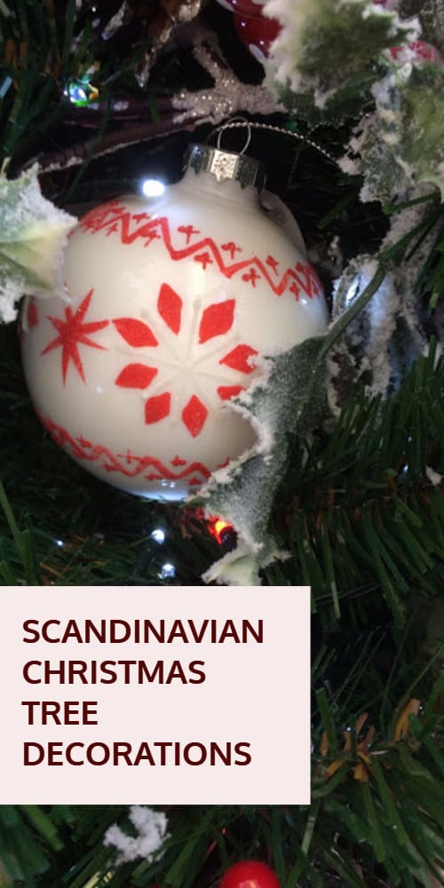 Scandinavian Christmas Tree Decorations and Christmas Decor