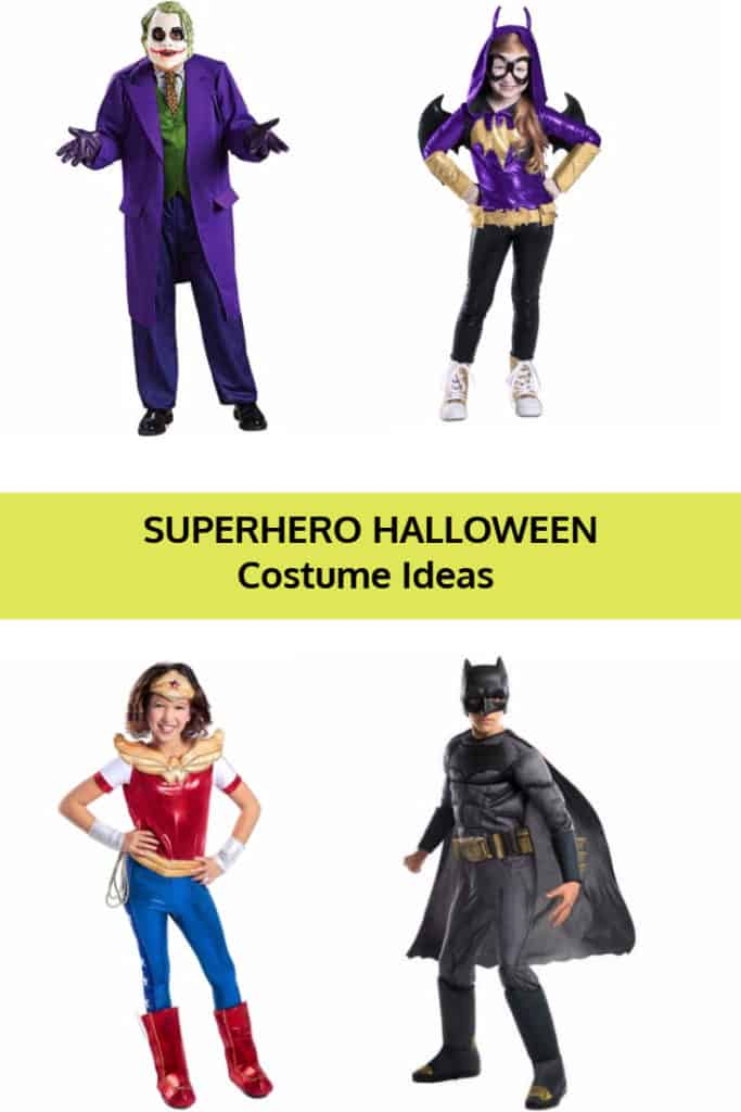 DC Superheroes Halloween Costume Ideas for Adults and Children