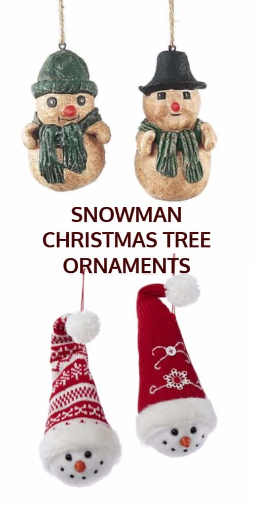 Snowman Christmas Tree Decorations and Ornaments