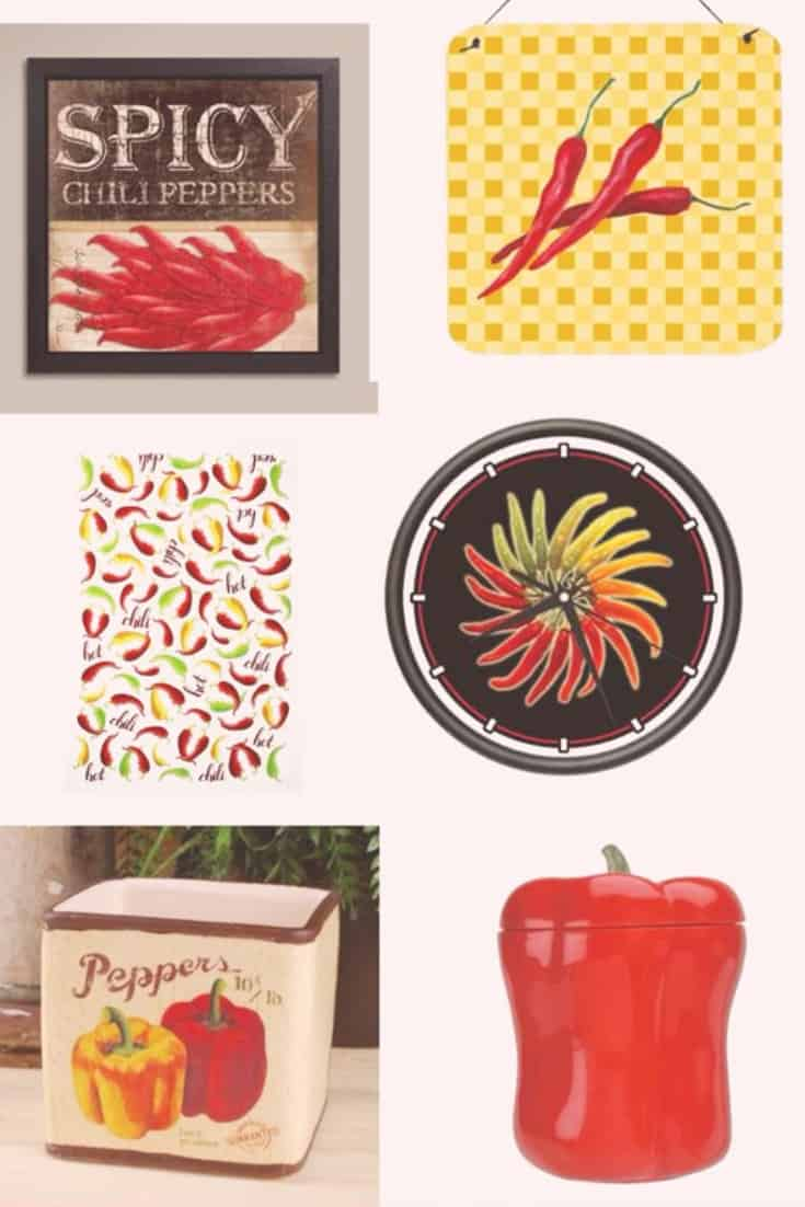Chili Pepper Kitchen Decor Mexican