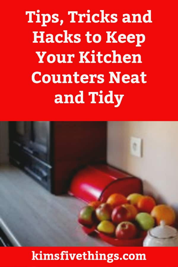 Declutter kitchen countertop storage solutions