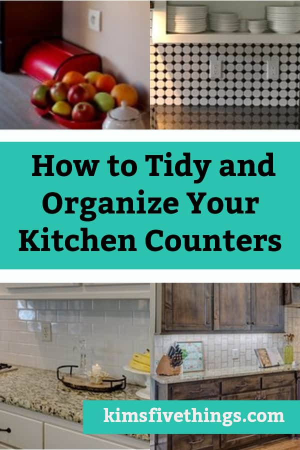 Kitchen Counter Storage Tips and Ideas
