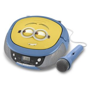 Minions Boombox CD Player with Microphone